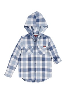 7 For All Mankind Long Sleeve Hooded Shirt (Big Boys)