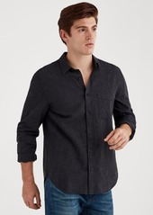 7 For All Mankind Long Sleeve Micro Stripe Linen Shirt