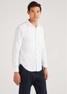 7 For All Mankind Long Sleeve Oxford in White