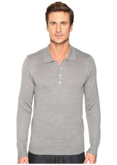 7 For All Mankind Long Sleeve Polo Sweater
