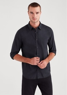 7 For All Mankind Long Sleeve Poplin Shirt in Black