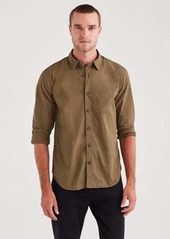 7 For All Mankind Long Sleeve Poplin Shirt in Military Olive