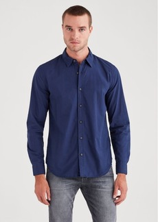 7 For All Mankind Long Sleeve Poplin Shirt in Navy