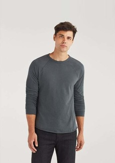 7 For All Mankind Long Sleeve Raglan Shirt in Charcoal