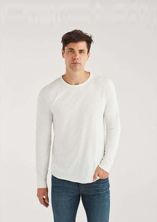 7 For All Mankind Long Sleeve Raglan Shirt in White