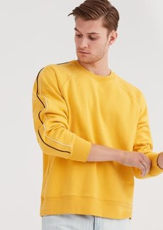 7 For All Mankind Long Sleeve Raglan Sweater in Primary Yellow