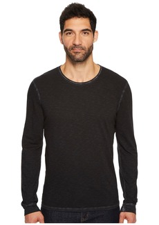 7 For All Mankind Long Sleeve Raw Crew Neck Tee