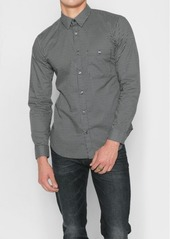 7 For All Mankind Long Sleeve Teardrop Print Shirt in Black