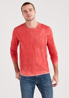 7 For All Mankind Long Sleeve Washed Tee in Red Flame