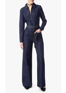 7 For All Mankind Long Sleeve Zip Front Playsuit