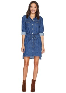7 For All Mankind Long Trucker w/ Belt Dress in Sunrise
