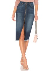 7 For All Mankind Long Zip Front Skirt