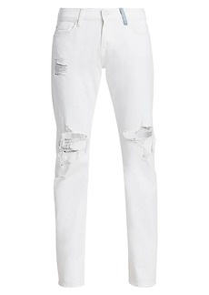 7 For All Mankind Low-Rise Boyfriend Destructed Jeans