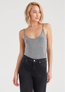 7 For All Mankind Lurex Cami in Silver