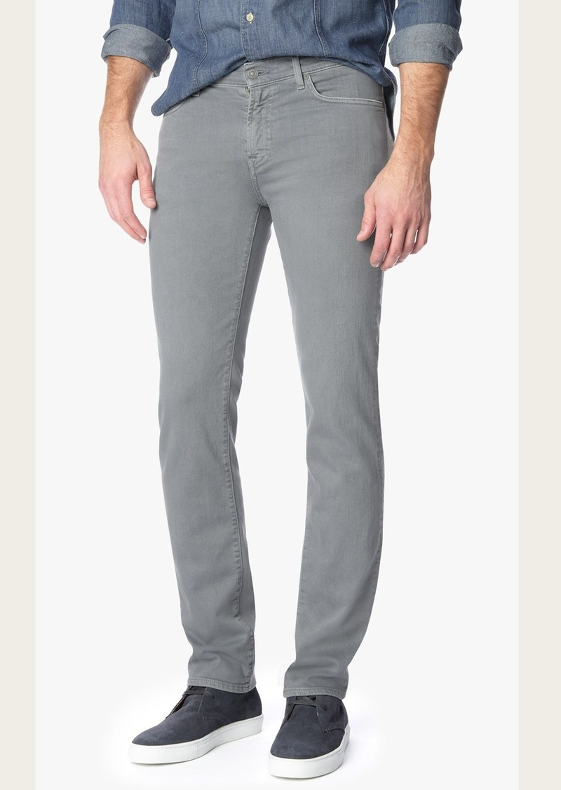 7 For All Mankind Luxe Performance Colored Denim Slimmy in Stone Grey Wash