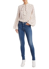 7 For All Mankind Luxe Slim-Fit High-Rise Ankle Skinny Jeans