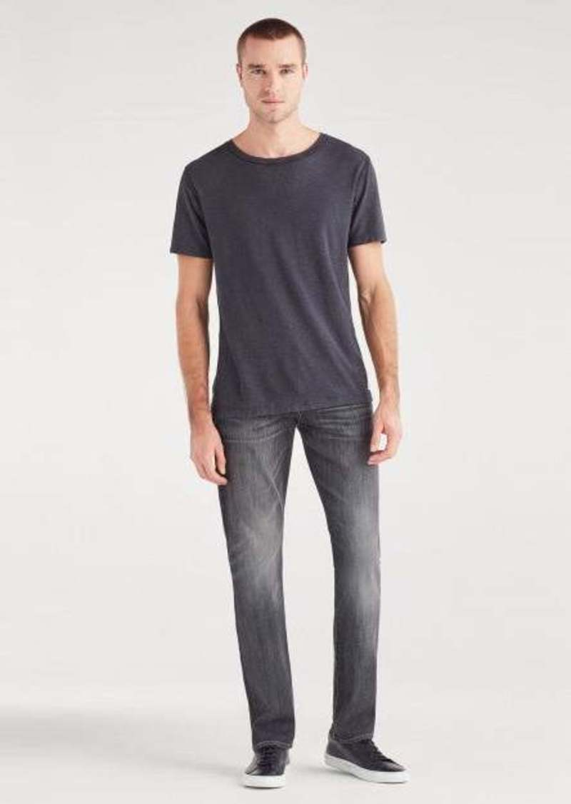 7 For All Mankind Luxe Sport The Straight with Clean Pocket in Authentic Vicious Grey