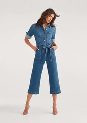 7 For All Mankind Luxe Vintage Cropped Alexa Playsuit in Femme