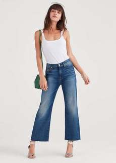 7 For All Mankind Luxe Vintage Cropped Alexa With Cut Off Hem in Femme
