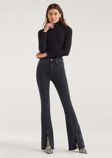 7 For All Mankind Luxe Vintage Exaggerated Kick Flare with Fray Hem in Moon Shadow