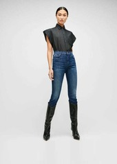 7 For All Mankind Luxe Vintage High Waist Ankle Skinny in Dark Indigo