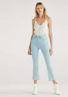7 For All Mankind Luxe Vintage High Waist Slim Kick with Knick and Grinding in Snowbird
