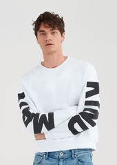 7 For All Mankind Mankind Puff Print Crewneck in White