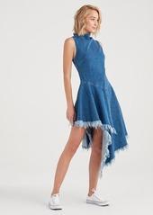 7 For All Mankind Marques Almeida x 7FAM Asymmetrical Dress in Mid Blue