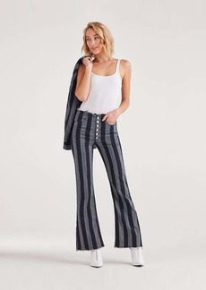 7 For All Mankind Marques Almeida x 7FAM High Waist Flare in Blue with Stripes