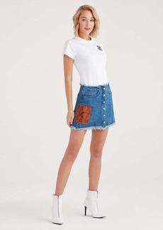 7 For All Mankind Marques Almeida x 7FAM Mini Skirt in Mid Blue