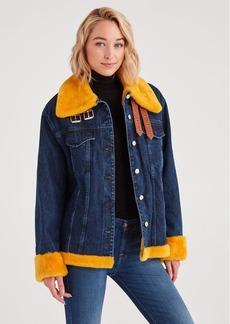 7 For All Mankind Marques Almeida x 7FAM Oversized Denim Jacket in Dark Blue