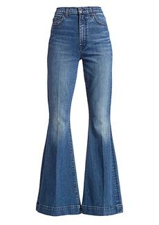 7 For All Mankind Mega High-Rise Super Flare Jeans