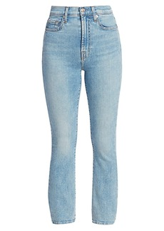 7 For All Mankind Melrose High-Rise Cropped Slim Jeans