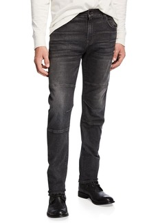7 For All Mankind Men's Adrien Paneled Straight-Leg Jeans  Archangel Gray