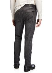 7 For All Mankind Men's Adrien Paneled Straight-Leg Jeans  Archangel Gray