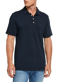 7 For All Mankind Men's Boxer 4-Button Polo Shirt