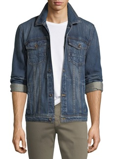 7 For All Mankind Men's Cotton Denim Trucker Jacket