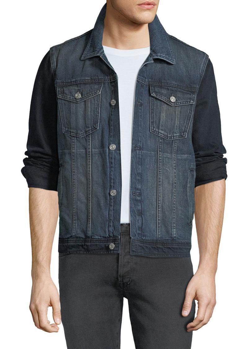 7 For All Mankind Men's Hybrid Trucker Jacket