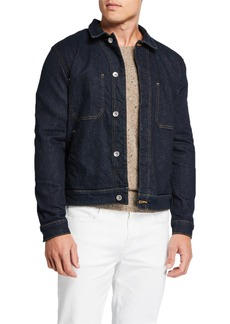 7 For All Mankind Men's Modern Trucker Jean Jacket