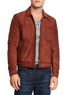 7 For All Mankind Men's Modern Trucker Suede Jacket