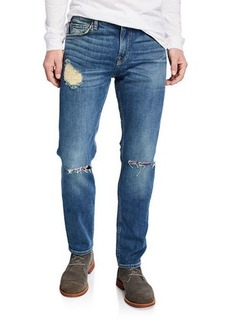 7 For All Mankind Men's Paxtyn Destroyed Denim Jeans