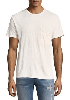 7 For All Mankind Men's Raw-Pocket Crewneck T-Shirt