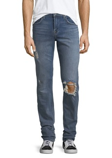 7 For All Mankind Men's Slimmy Distressed Slim-Leg Jeans