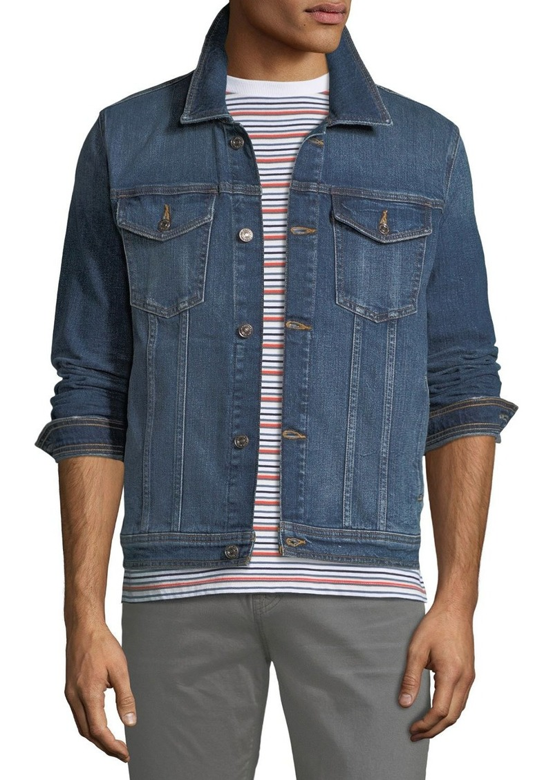 7 For All Mankind Men's Stretch-Denim Trucker Jacket