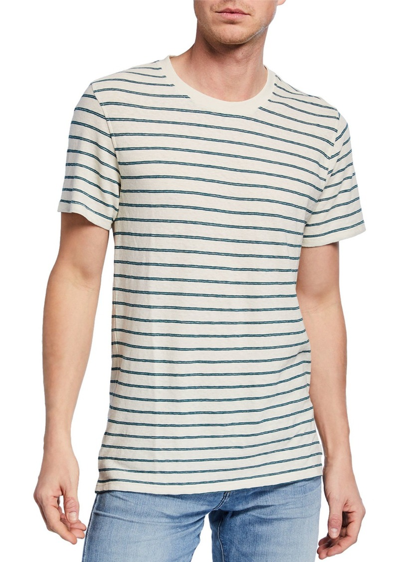 7 For All Mankind Men's Striped Boxer T-Shirt