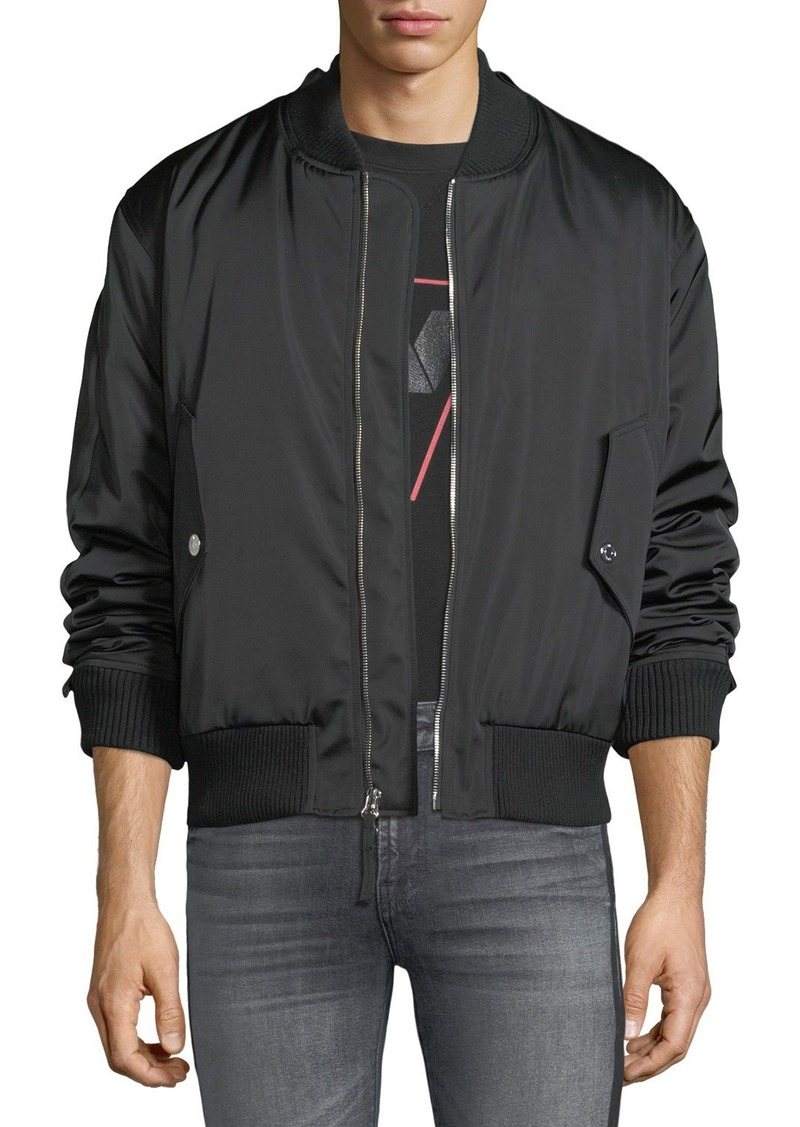 7 For All Mankind Men's Zip-Front Military-Style Bomber Jacket