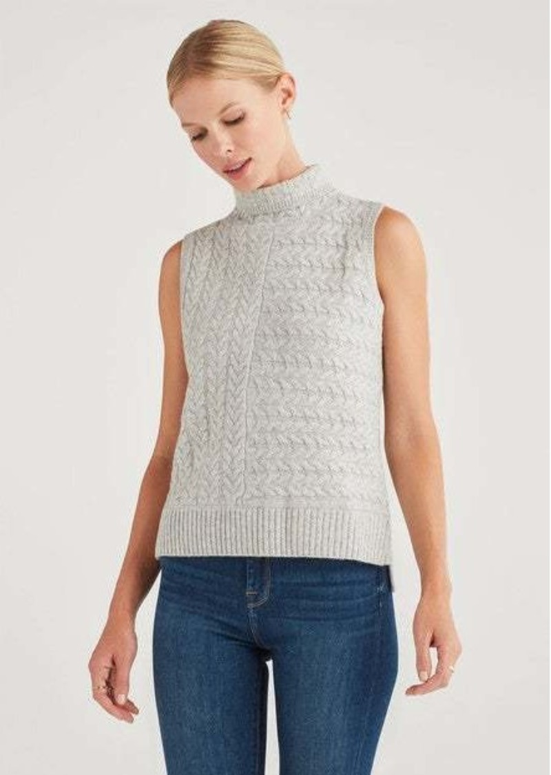 7 For All Mankind Merino Wool and Cashmere Sleeveless Turtleneck in Heather Grey