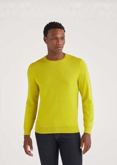 7 For All Mankind Merino Wool Long Sleeve Crewneck in Bitter Absynthe
