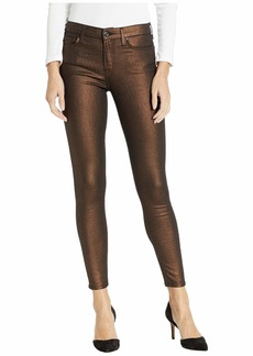 7 For All Mankind Metallic Ankle Skinny in Copper