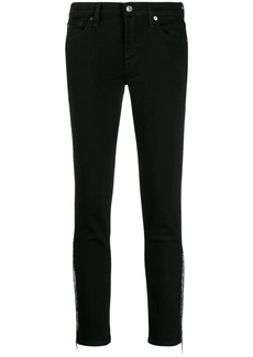 7 For All Mankind micro stud fringed jeans